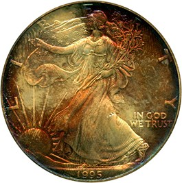 Image of 1995 Silver Eagle $1 PCGS MS67 - No Reserve!