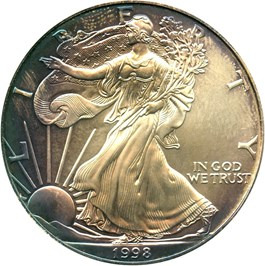 Image of 1998 Silver Eagle $1 PCGS MS68 - No Reserve!