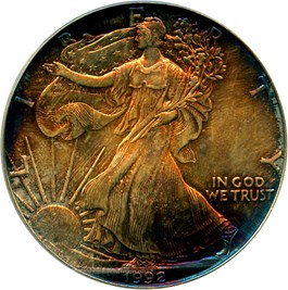 Image of 1992 Silver Eagle $1 PCGS MS68 - No Reserve!