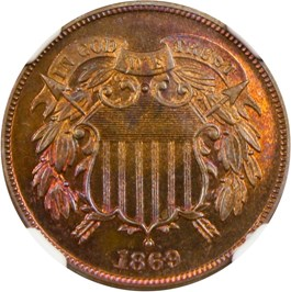 Image of 1869 2c NGC Proof 67 RB