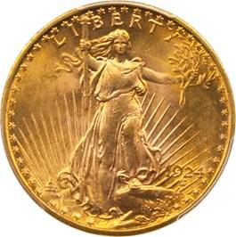 Image of 1924 $20 PCGS MS66