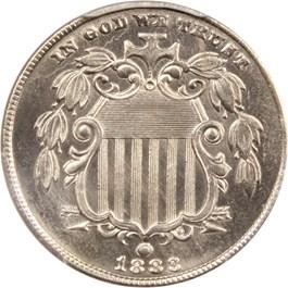 Image of 1883 Shield 5c PCGS MS66