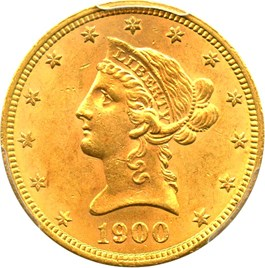 Image of 1900 $10 PCGS/CAC MS63