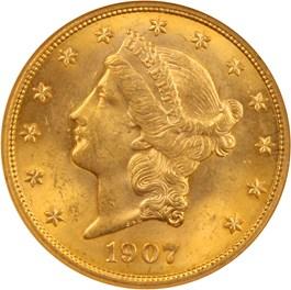 Image of 1907 Liberty $20 NGC MS63