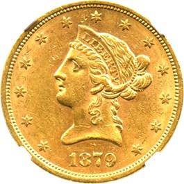 Image of 1879-S $10 NGC AU58