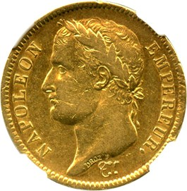 Image of France: 1811-A 40 Fr NGC XF45 (KM-696.1) 0.3734 oz Gold