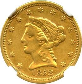 Image of 1852-O $2 1/2 NGC XF45