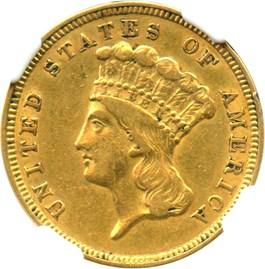 Image of 1854 $3 NGC XF45