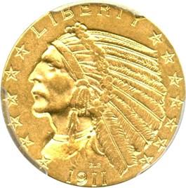 Image of 1911 $5 PCGS AU55