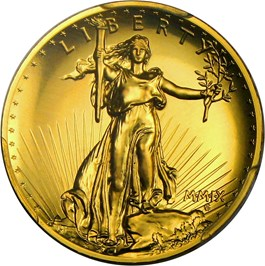Image of 2009 Ultra High Relief $20 PCGS MS70 (Gold Foil Label)