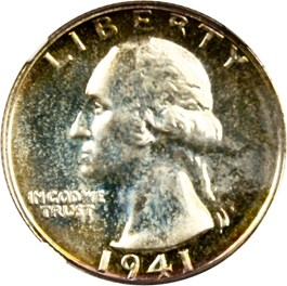 Image of 1941 25c NGC/CAC Proof 65 (Highland Collection)