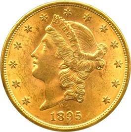 Image of 1895-S $20 PCGS MS63