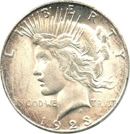 Image of 1923-S $1 PCGS MS63