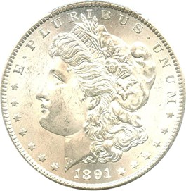 Image of 1891-S $1 PCGS/CAC MS64