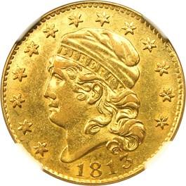 Image of 1813 $5 NGC AU53