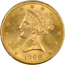 Image of 1898-S $10 PCGS MS63