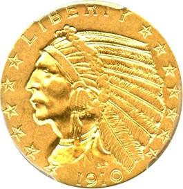 Image of 1910-S $5 PCGS AU53