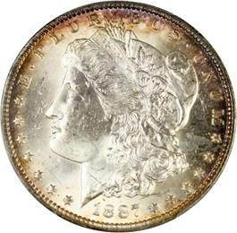 Image of 1887-O $1 PCGS MS63