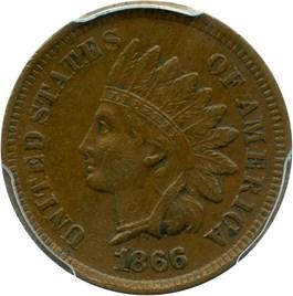 Image of 1866 1c PCGS XF45
