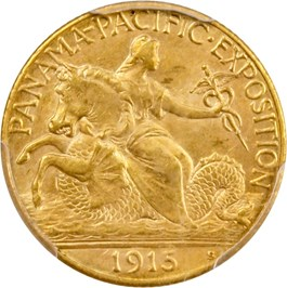 Image of 1915-S Panama-Pacific $2 1/2 PCGS/CAC MS64