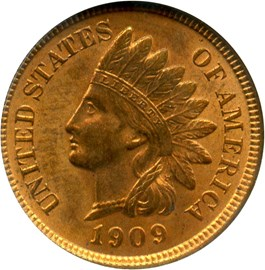 Image of 1909 Indian 1c NGC/CAC MS64 RD