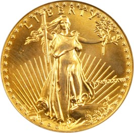 Image of 1987 Gold Eagle $25 PCGS MS68