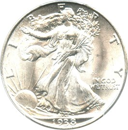 Image of 1938 50c PCGS MS64