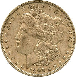 Image of 1893 $1 PCGS/CAC XF45