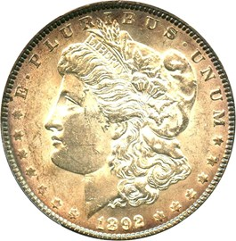 Image of 1892 $1 PCGS/CAC MS61
