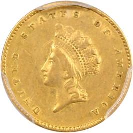 Image of 1855 G$1 PCGS AU50 (Type 2)
