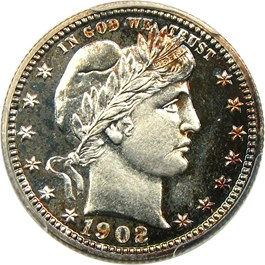 Image of 1902 25c PCGS Proof 66