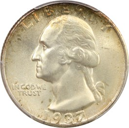 Image of 1937 25c PCGS/CAC MS67
