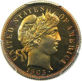 Image of 1905 10c PCGS Proof 67