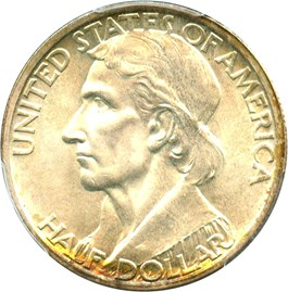 Image of 1934 Boone 50c PCGS MS67