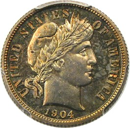 Image of 1904 10c PCGS Proof 66
