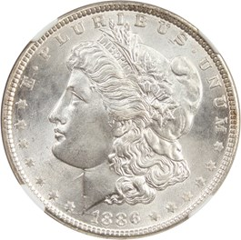 Image of 1886 $1 NGC/CAC MS67+