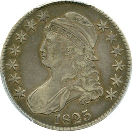 Image of 1825 50c PCGS VF35