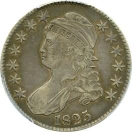 Image of 1825 50c PCGS VF35