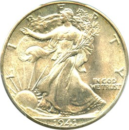 Image of 1941 50c PCGS/CAC MS67