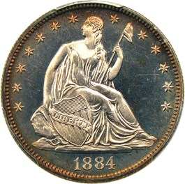 Image of 1884 50c PCGS Proof 66 CAM