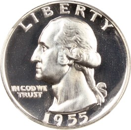 Image of 1955 25c NGC Proof 69 UCAM