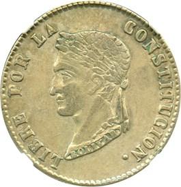 Image of Bolivia: 1858-PTS FJ NGC 4 Soles (KM#123.2) .2895 oz Silver