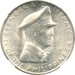 Image of Philippines: 1947-S Peso NGC Genuine UNC Details (Surface Hairlines, Douglas Macarthur, KM#185) .5787 oz Silver