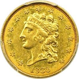 Image of 1835 $2 1/2 PCGS AU53
