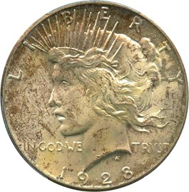 Image of 1928 $1 PCGS/CAC MS64