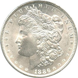 Image of 1886 $1 PCGS MS66