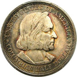 Image of 1892 Columbian 50c PCGS MS67