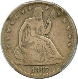 Image of 1867-S 50c PCGS VG-10