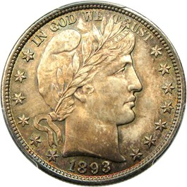 Image of 1893 50c PCGS/CAC MS65