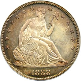 Image of 1888 50c PCGS/CAC Proof 66